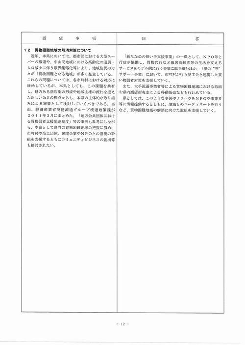 H249月補正 民主党【回答】⑫