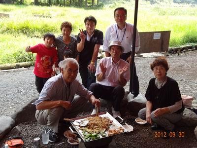斉藤後援会BBQ大会 野中G