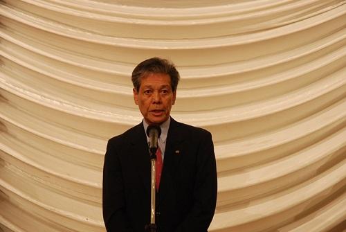 青木連合栃木会長(来賓あいさつ)