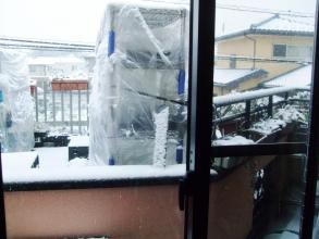 再び大雪の予感・・・ユッキ降り過ぎでした~♪降り過ぎて何も見えなかった~(ToT)/~~~2週連続大雪景色~バレンタインデー2014.0214