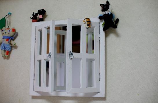 壁に設置した鏡3234