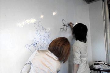 『算命学飛脚便』イラストレーターの落書き風景☆