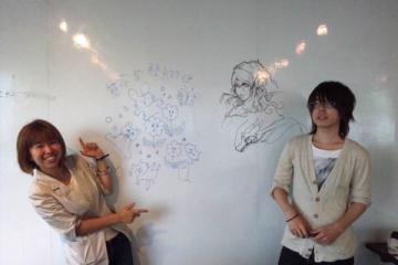 『算命学飛脚便』イラストレーター落書き記念写真☆