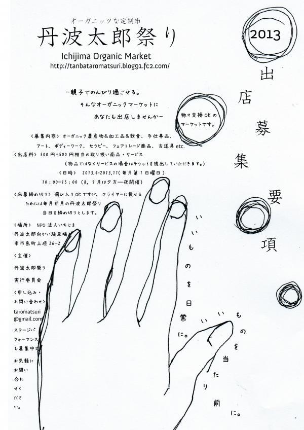 丹波太郎祭り出店募集要項2013