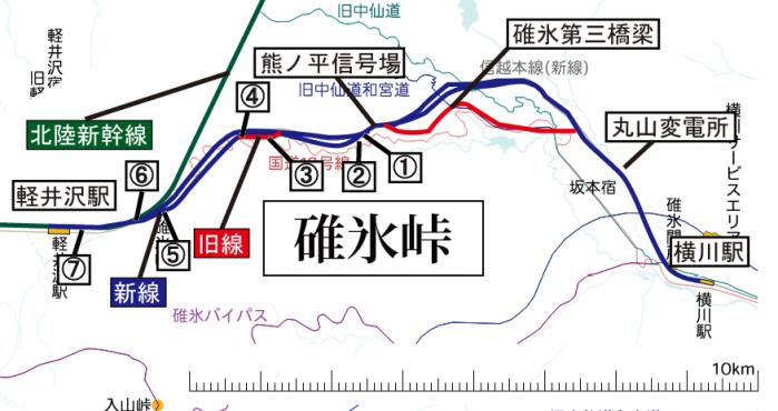 碓氷峠(熊ノ平~軽井沢)