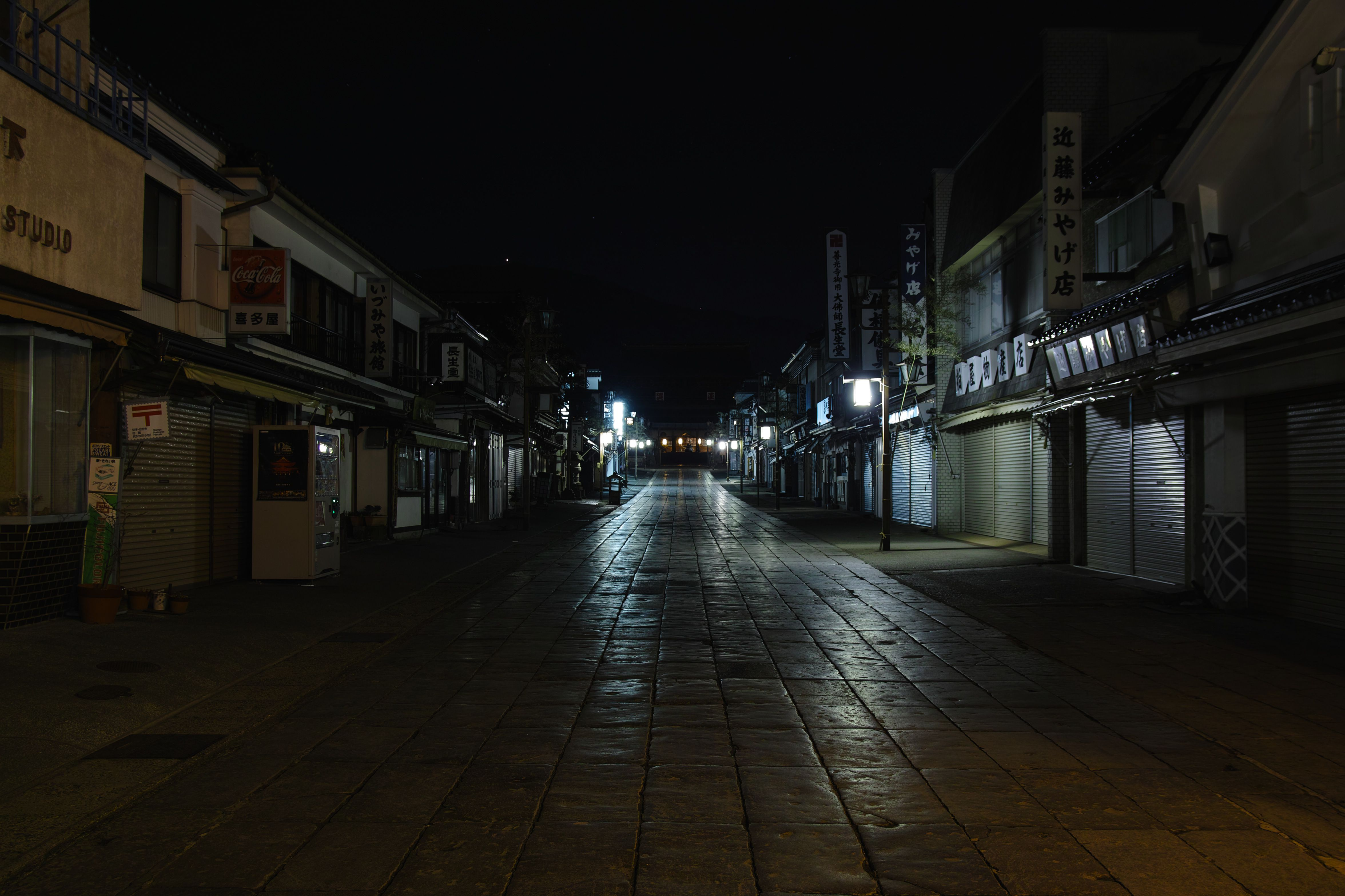 夜の善光寺参道_compressed
