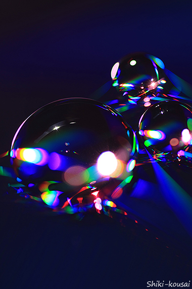光の水玉写真 【クラゲ】