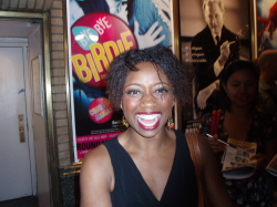 Montego Glover at the stage door