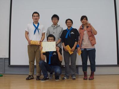 総合優勝の青チーム!