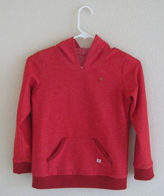 knit hoodie red