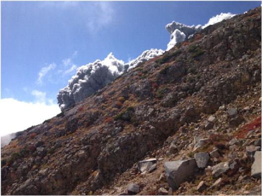 伊左治御岳噴火画像5