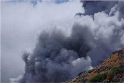 伊左治御岳噴火画像8