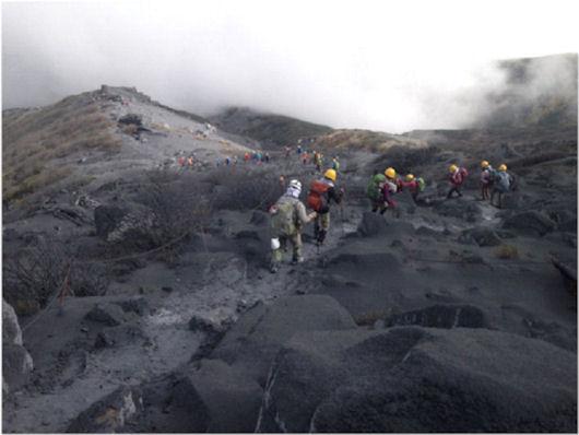 伊左治御岳噴火画像12