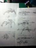 アイディアスケッチ_無人兵器と銃器のスケッチ