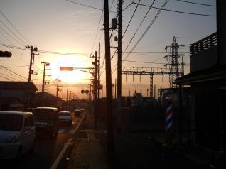黄昏の三崎変電所