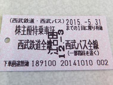 1株主優待券1203