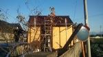 晴天の中屋根張り終了・・・20141115