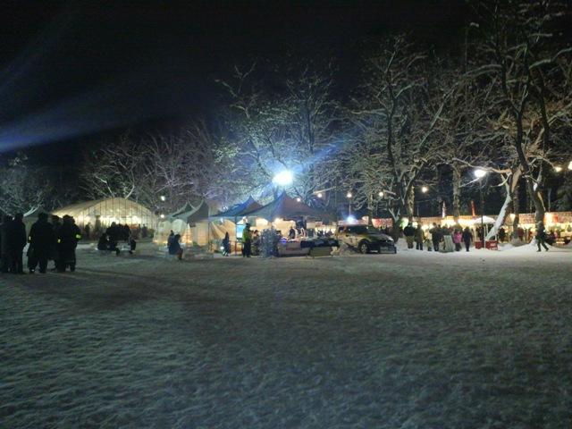 氷祭り初日