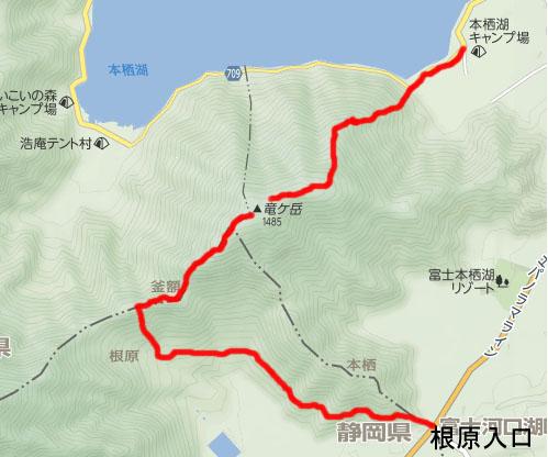 竜ヶ岳地図