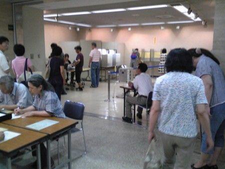 期日前投票風景