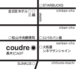coudre 地図
