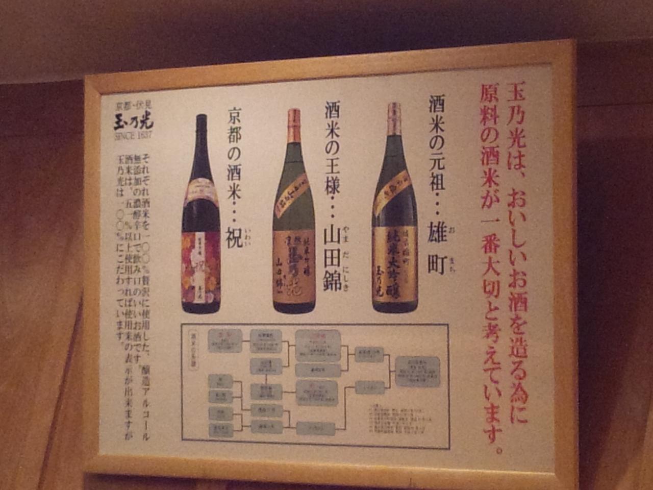 玉乃光酒造雄町店(店内)