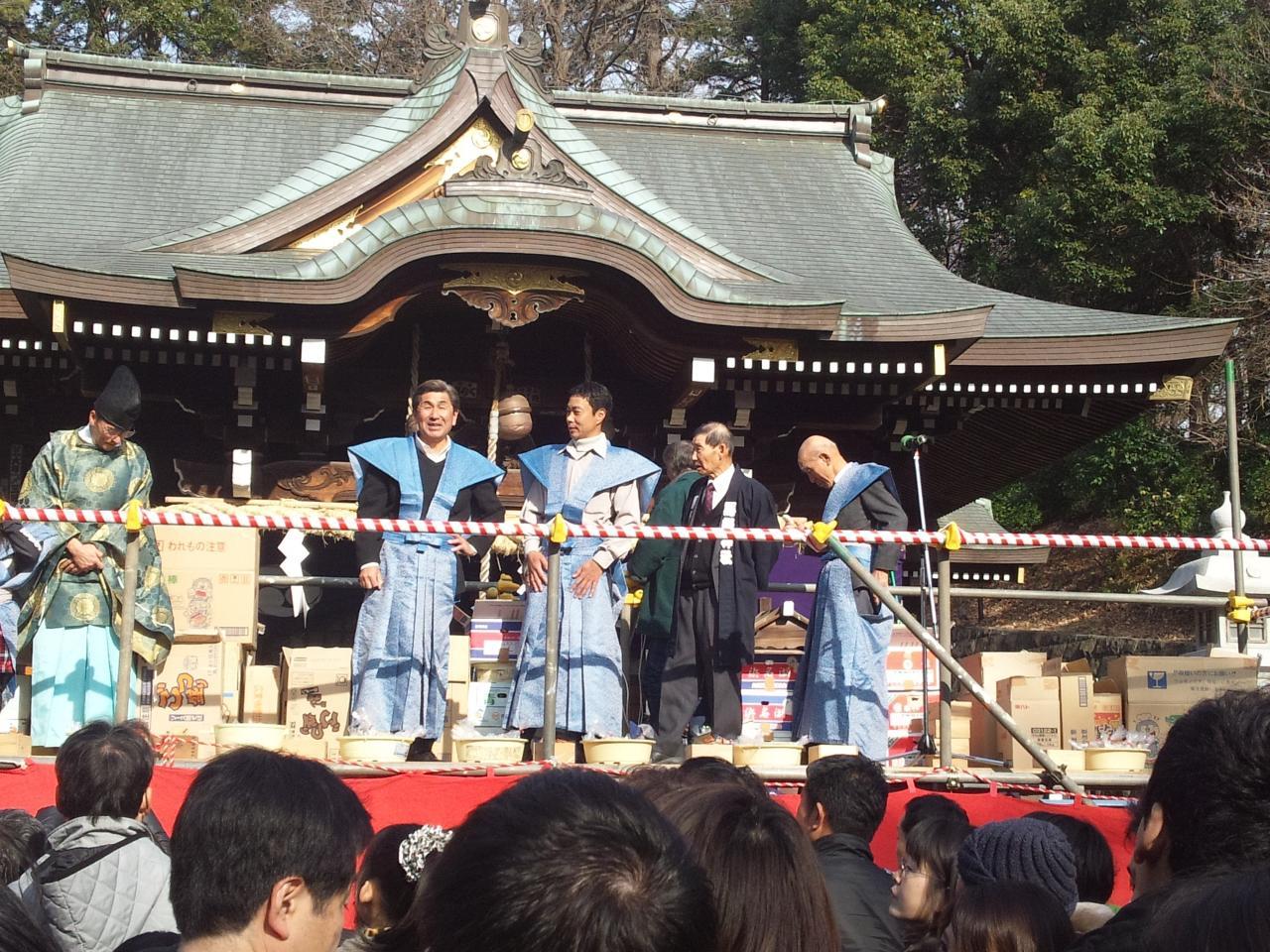 馬絹神社節分祭