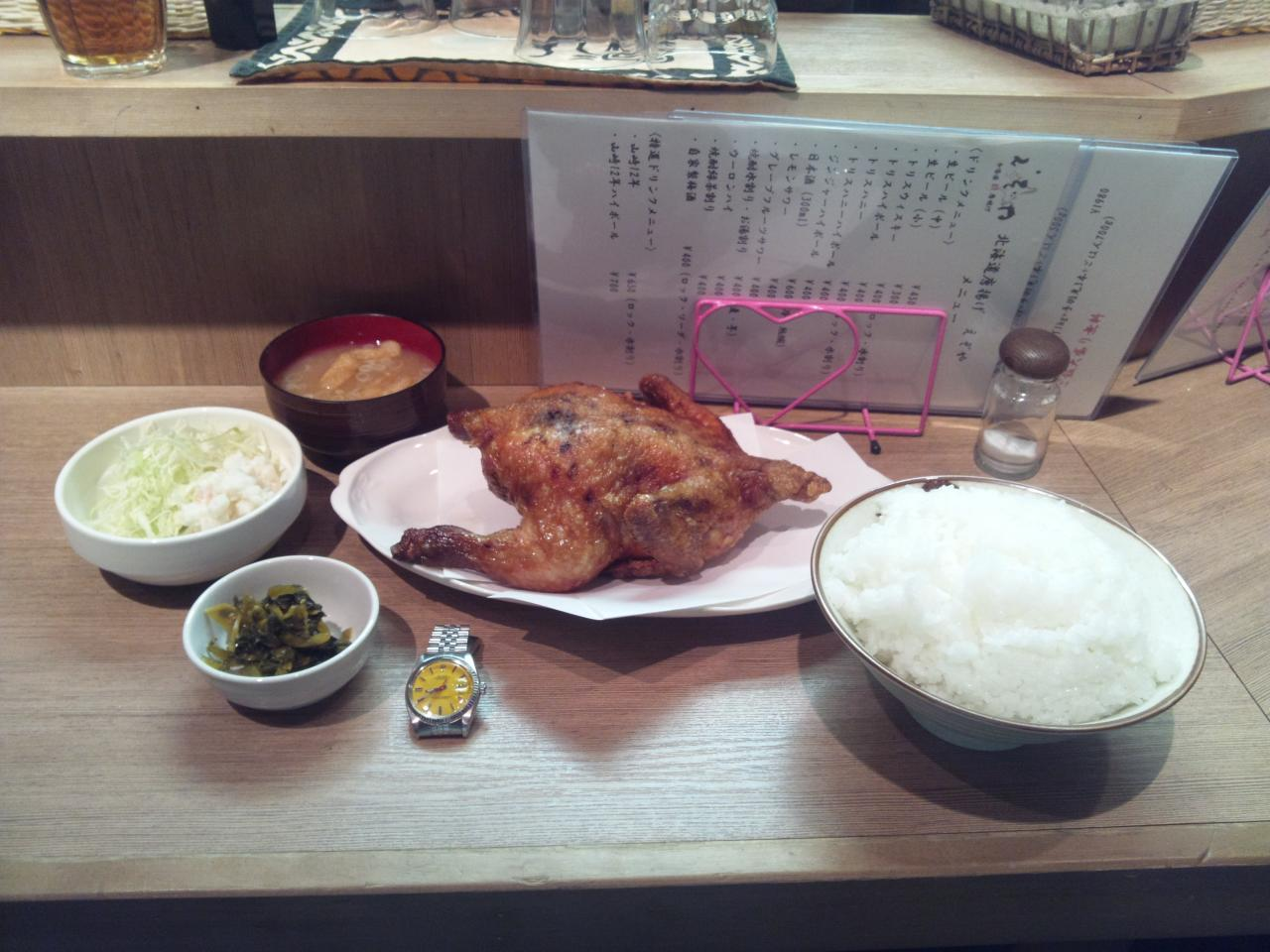 えぞや六角橋店(鶏丸揚げ定食)