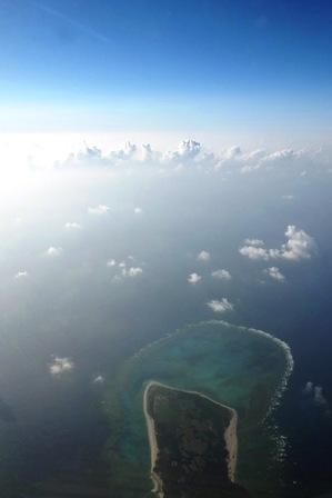 2013年9月石垣島上空