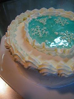 雪の結晶ケーキ