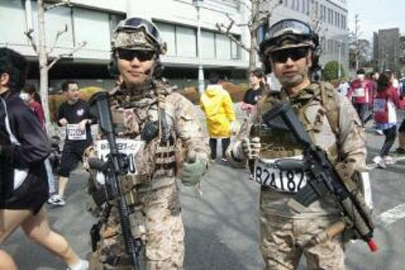 駿府マラソン兵隊さん