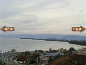 長浜城琵琶湖2