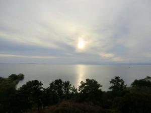 長浜城から琵琶湖