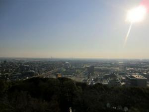 小牧山城から名古屋