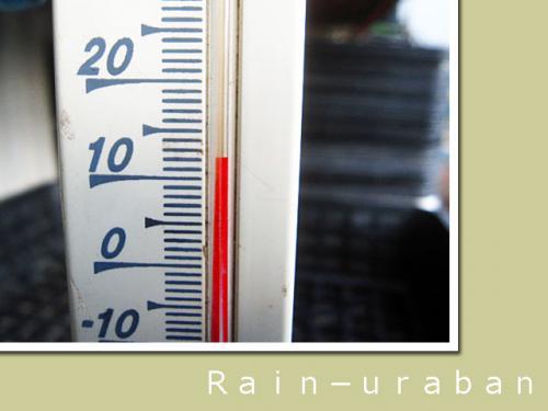 数字で見るほど暖かさは感じなぞぉ(@ @;
