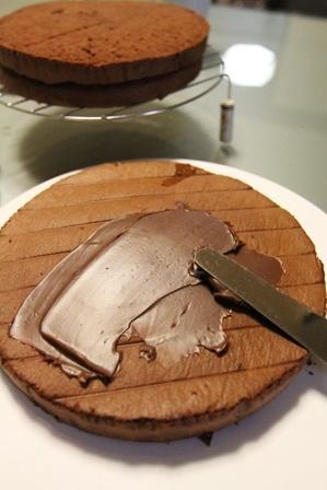 ワンコの似顔絵(!)誕生日ケーキを作ってみた。 (3)