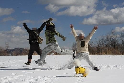 雪遊びの〆 (3)
