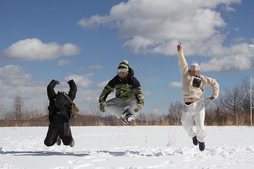 雪遊びの〆 (4)