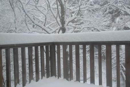 雪の軽井沢