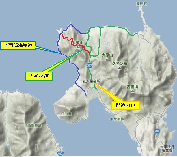 1)江田島町北部(大須林道・海岸周回・県道297号)a