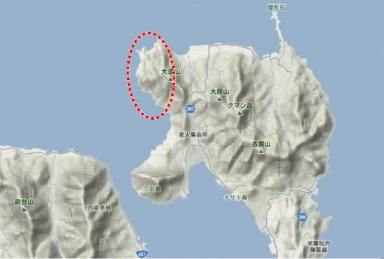 1)江田島町北部・大須地区