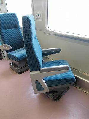 一人用座席は回転できます