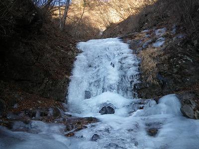 初滝も十分登れる