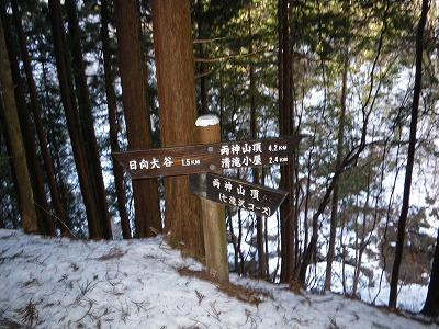 七滝沢コース入口