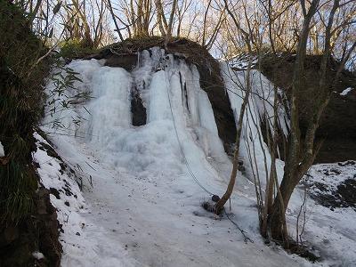 温泉奥の氷