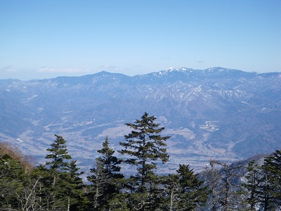 南御室手前からの金峰山