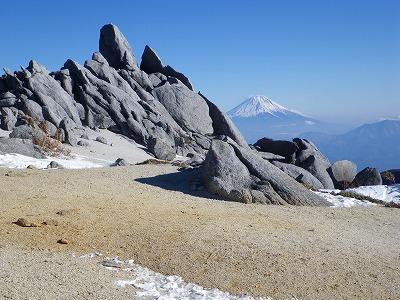 薬師からの富士山