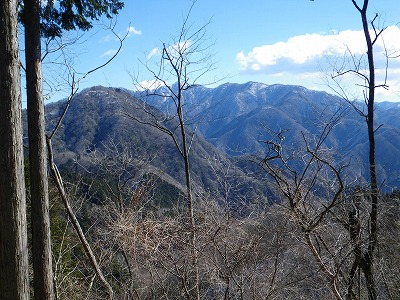 権現山と檜洞丸