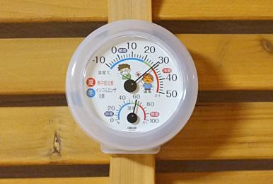 猫の部屋の温度計&湿度計