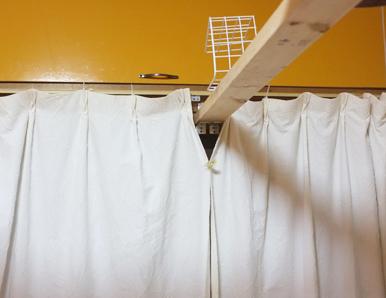 ちゃんと閉じてあるビビリ部屋のカーテン